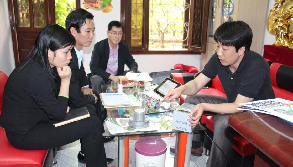 Đại diện hãng máy thổi khí HWANG HAE ELECTRIC có chuyến thăm và làm việc tại FISCO