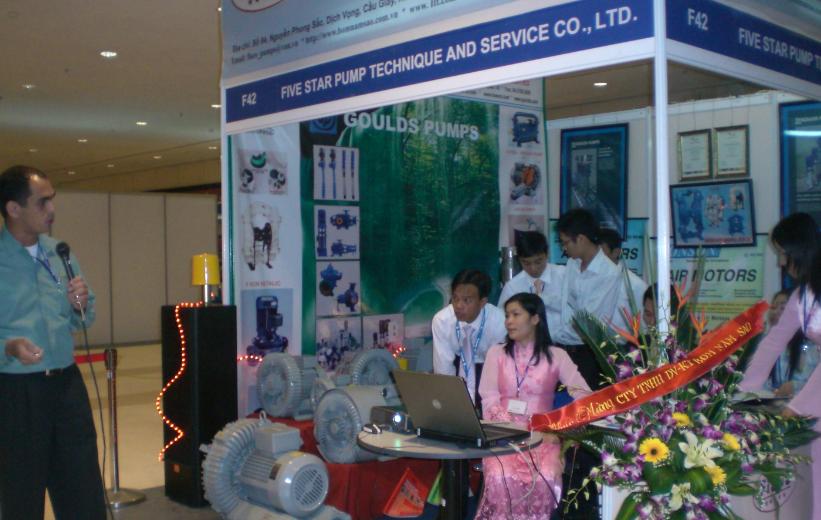 Tham gia triển lãm vietwater 2008 tại trung tâm hôi nghị quốc gia